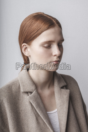 close up of teenage girl with