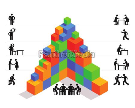 management business icon illustration