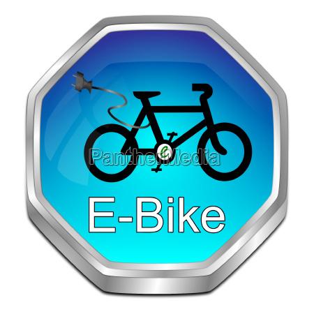 glaenzend blau e bike button