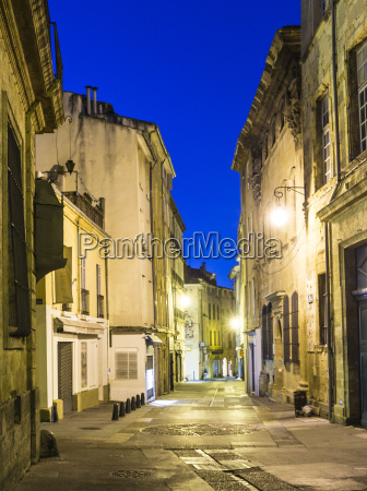 small alley by night in aix