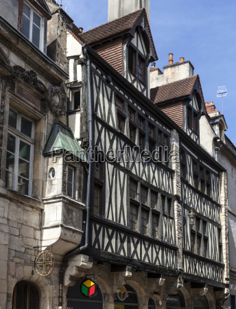 ancient half timbered houses in dijon