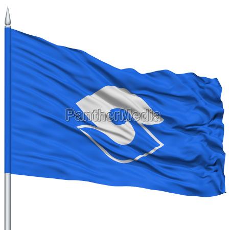shizuoka capital city flag on flagpole