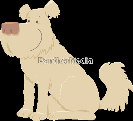 cream shaggy dog cartoon