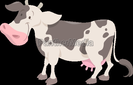 cute spotted cow animal