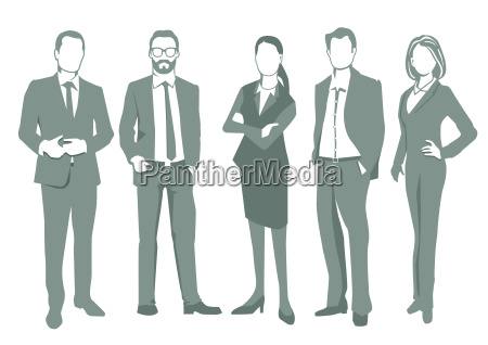 group of business people illustration isolated