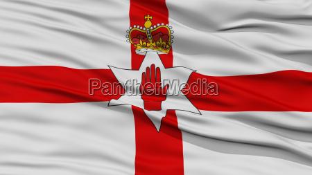 nahaufgang nordirland flagge