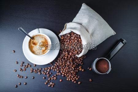 stilleben mit kaffee