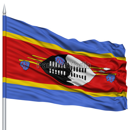 swasiland flagge auf fahnenmast