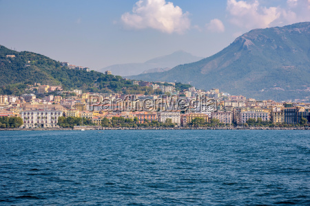 city of salerno seen from the