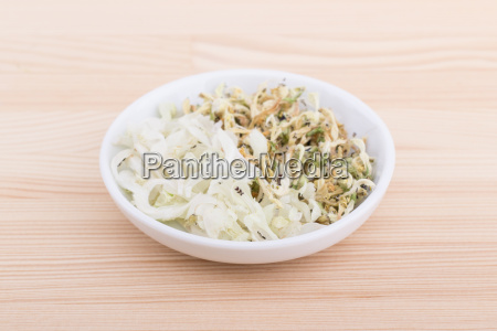 bowl of fresh and dried white
