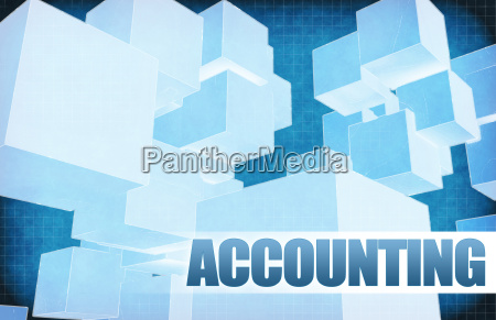 accounting on futuristic abstract