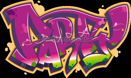 festivalwort im graffiti stil