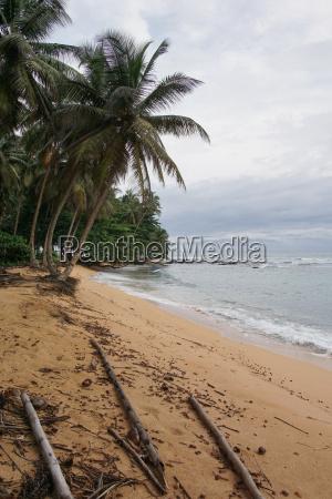 praia inhame an einem bedeckten und