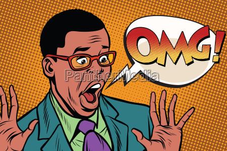 omg black man businessman pop art
