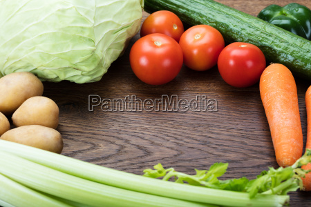 fresh vegetable on table