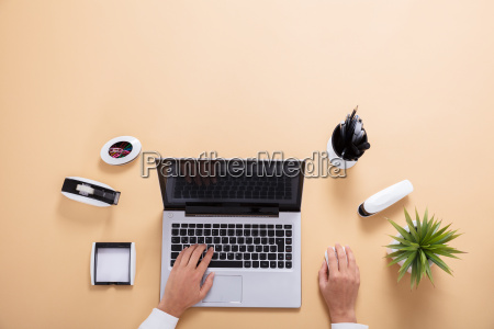 businessperson working on laptop