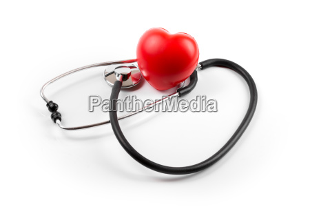 heart health concept isolated on white