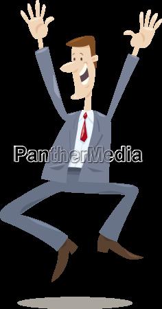 happy trader cartoon