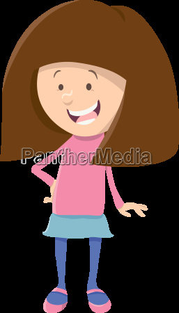 cute girl cartoon character