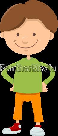 kid boy cartoon character
