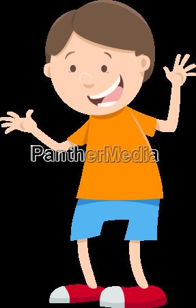 happy boy cartoon character