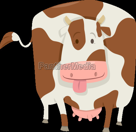 cute spotted cow character