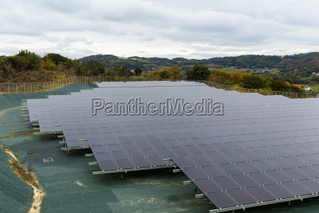 solar energy panel at countryside