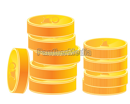 pile of the gold coins