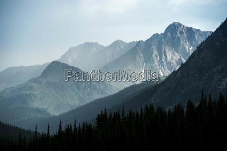 mystische, berglandschaft, während, eines, gewitters - 21828563