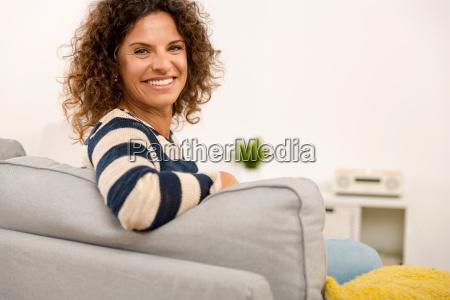 beautiful woman at home