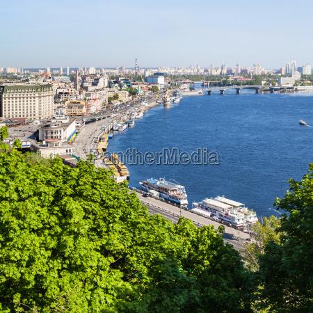 view of kiev city podil district