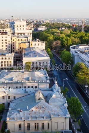 above view of mykhailo hrushevsky street