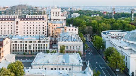 hrushevsky street in kiev city in