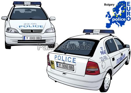 bulgarische polizeiauto