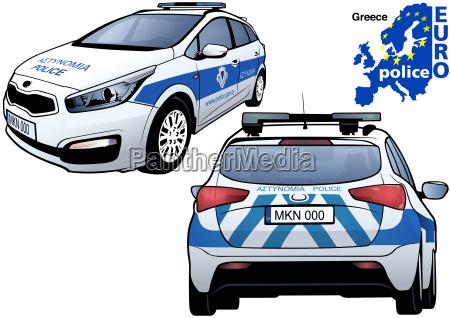griechenland polizeiauto