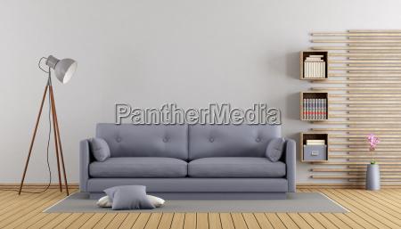 Lila Wohnzimmer, minimalistisches lila wohnzimmer - lizenzfreies bild - #21831785, Design ideen