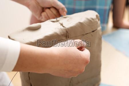 clipping der tonblock mit einer vene
