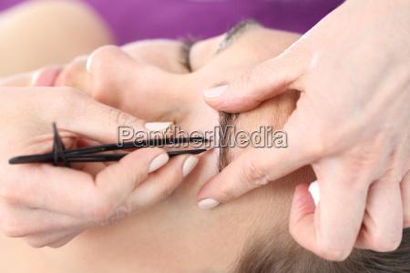 eyebrow tweezers hair removal adjusting the