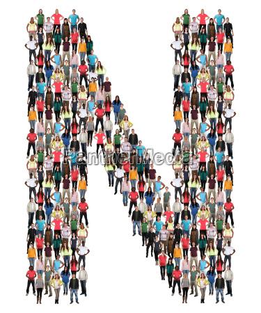 letter n alphabet people people people