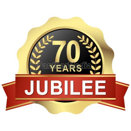 button 70 years jubilee