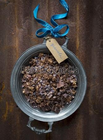 muesli mit schokolade kakaonibs haferflocken kaltgepresstes