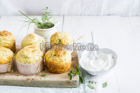 spicy cheese muffins with herbs and