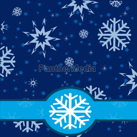 winter background from snowflake