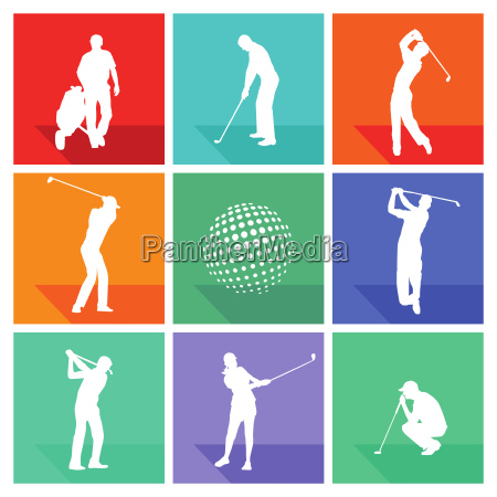 golf game illustration collection