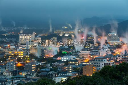 beppu city at night