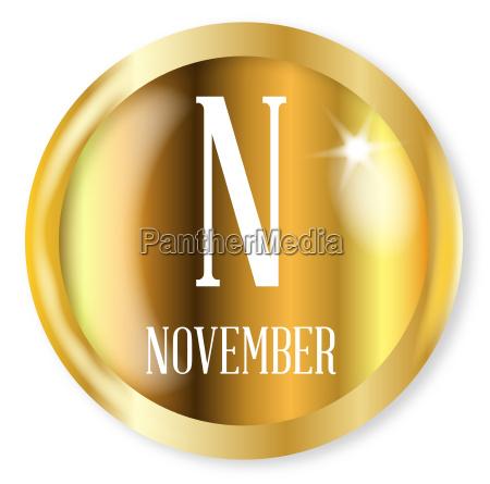 knopf button november abzeichen phonetisch dienstmarke