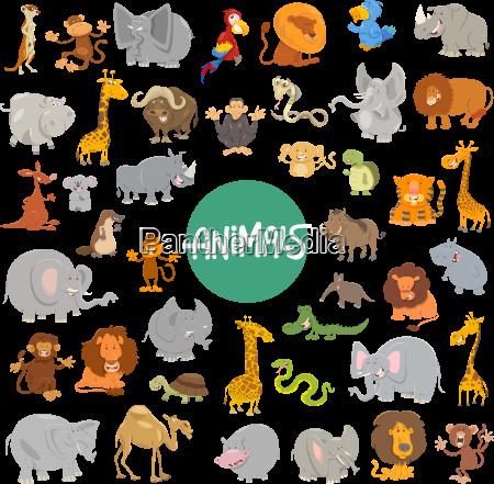 cartoon animal characters big set