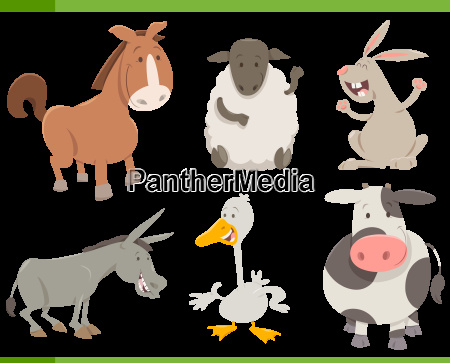 farm animal characters collection