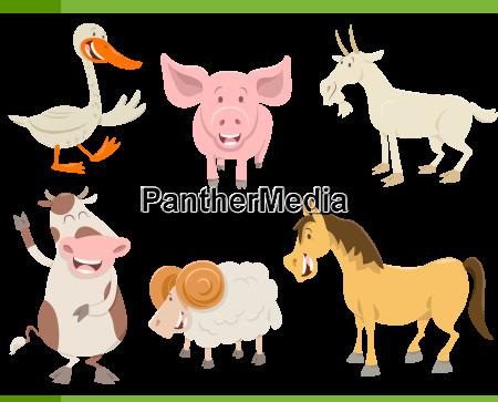 farm animal characters set