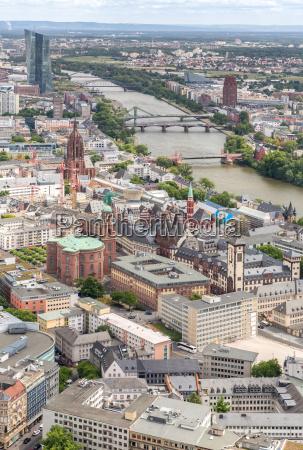 frankfurt deutschland luftbild